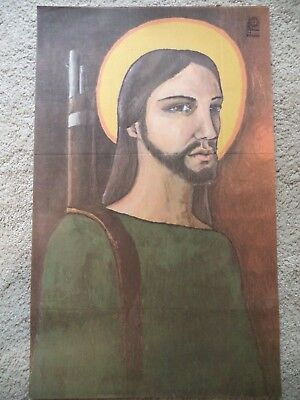 Ospaaal Political Poster Jesus / Rifle Camilo Torres Cuba 1969 Rostgaard
