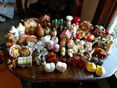 Vintage  Lot Of Salt & Pepper Shakers, Enesco, Brinn, Elsie(37)