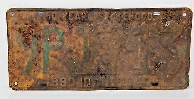 1940 IDAHO License Plate Collectible Antique Vintage 9P-17-13