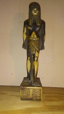 ANCIENT EGYPTIAN REPRODUCTION   ART PHARAOH STATUE TALL hand made in egpty