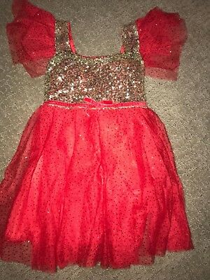 Girls Christmas Dress Tutu Size 90 2t Sparkle Glitter Sequin Holiday Boutique