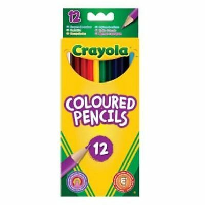 Crayola Coloured Pencils Strong Leads Pencil Crayons Pack of 12 FREE P&P