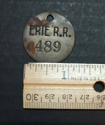 Vintage Erie Railroad Luggage Tool Tag   FREE SHIPPING