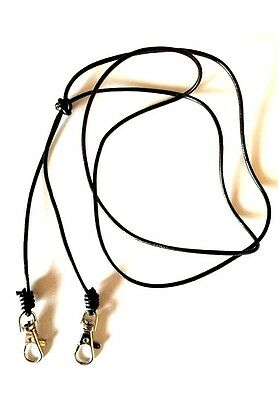 Brown Leather Luxury Double Dog Whistle Neck Lanyard (Gun Dog Training - ACME)