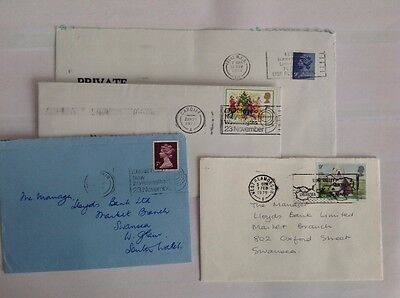 2. G B Stamps - Collect British Postmarks  Cardiff Leeds West Glam Post Mark
