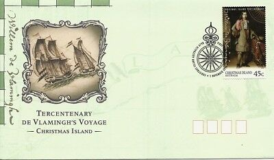 1996 Christmas Island - Tercentenary of Vlamingh's Journey First Day Cover FDI