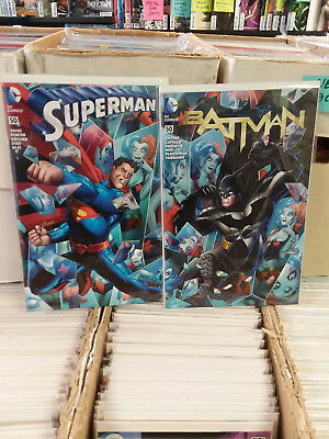 Dc The 52! Batman #50 And Superman #50 Df Connecting Harley Quinn Variant Covers