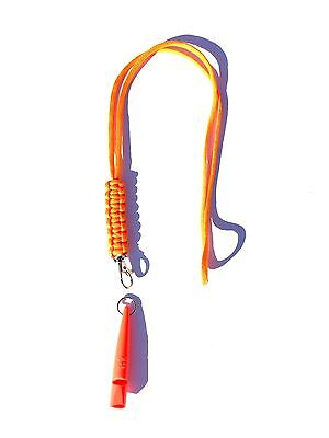 Orange ACME 210.5 Gundog Whistle & Orange Cobra Stitch Design Lanyard 210 1/2