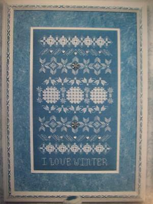 I Love Winter Seasonal sampler Hardanger patterns