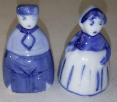 Delft Blue and White Doll House Miniature Boy and Girl