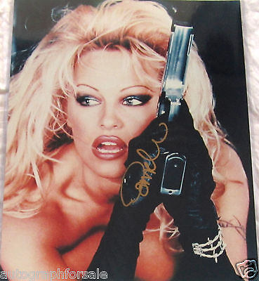 Pamela Anderson autographed signed auto Barb Wire movie 16x20 poster size photo