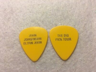 GUITAR PICK  - John Jorgenson - Elton John 1998 tour issue guitar pick  - RARE