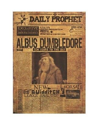 Harry Potter Albus Dumbledore Movie Poster Vintage Wall Stickers Placard Decor