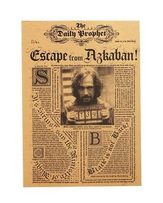 Harry Potter Escape From Azkaban Movie Poster Vintage Paper Wall Sticker Placard