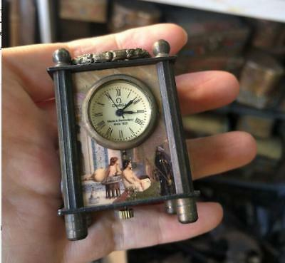 Collectible Old Chinese cloisonne Handwork Mechanical Table Small Clock RN