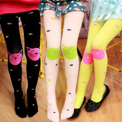 Cute Autumn Girls Tights Bearded Girl Fashion Knitted Stocking Baby Pantyhose