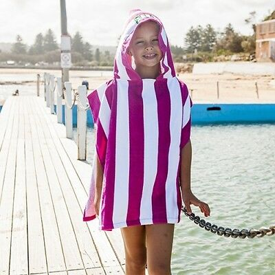 Personalised Hooded Beach Towel - Pink Stripe