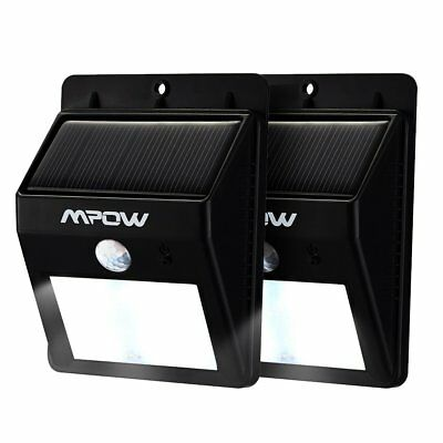 Mpow Solar Power Outdoor LED Lamp Motion Activated Bright Garden Light 2pcs Pack
