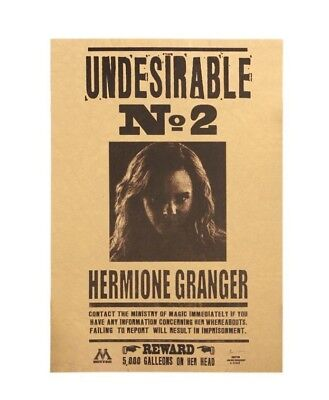 Harry Potter Movie Poster Undesirable No 2 Hermione Granger Paper Wall Stickers