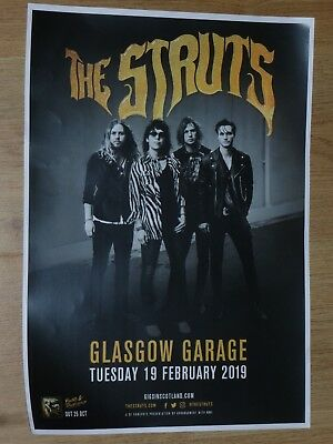 The Struts - Glasgow feb.2019 live music show concert tour gig poster