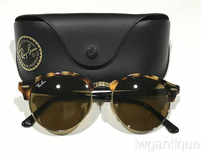 46d8ee4284788 Ray-Ban Clubround Classic Sunglasses RB4246 1160E Tortoise Brown Lens MINT