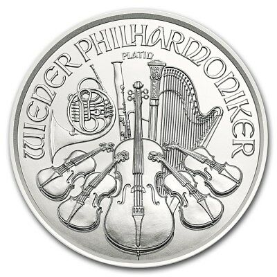 2019 Austrian Philharmonic 1/25 oz .9995 Platinum Round Limited Bullion BU Coin