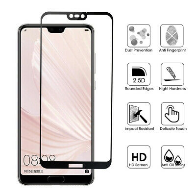 5D Ful Cover Tempered Glass Screen Protector For Huawei P20/P20 PRO/LITE Curved