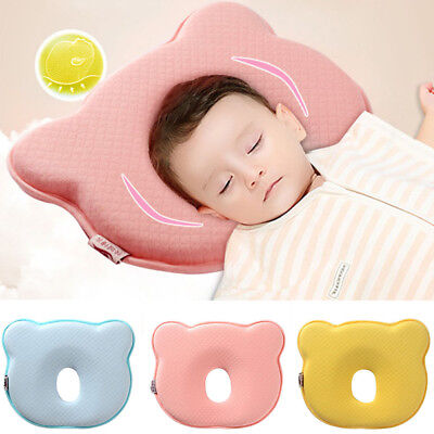Soft Cot Newborn Infant Toddler Baby Pillow Preventing Flat Head Cushion Support