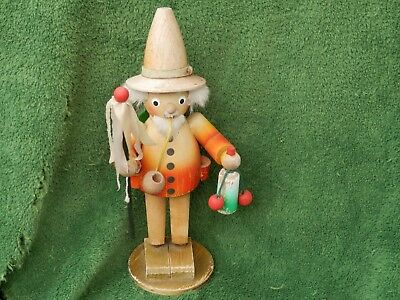 Rare? Vintage Wood German Smoker Incense Burner With Pipe & Cuckoo Clock Estate