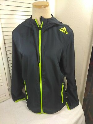 Adidas, Men's, Size Small, Blue/Green, Full Zip Up, Long Sleeves, Jacket