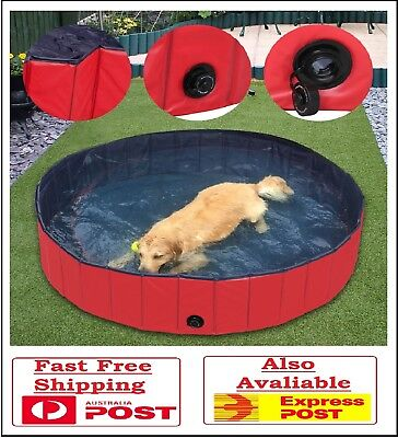 Portable Folding Pet Swimming Pool Dog Cat Bath Animal Washing Large Comfortable