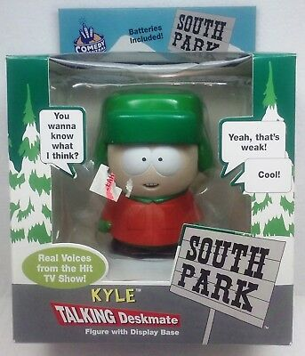 Comedy Central South Park KYLE TALKING DESKMATE figure with Display Base 1998