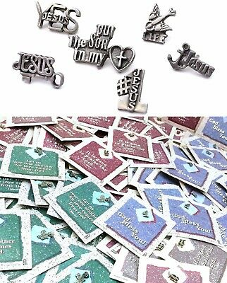 CHRISTIAN LAPEL PIN LOT 180 Pins Jesus Jewelry Salvation Unisex Religious Gift