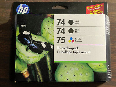 HP INK COMBO-PACK 2 x 74 BLACK and 1 x 75 TRI-COLOR INK CARTRIDGES