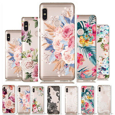 For Xiaomi Redmi Note 7 6 Pro Mi A1 A2 Clear Painted Pattern Soft TPU Cover Case