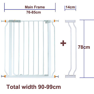 78CM High Adjustable 90-99CM Baby Pet Child Safety Security Gate Stair Barrier