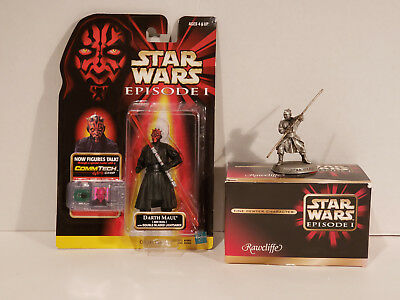 Star Wars Episode 1 - Darth Maul - Rawcliffe Pewter & Hasbro Commtech Figurine