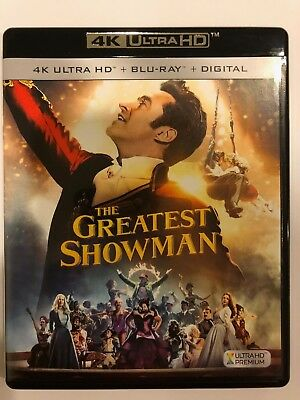 The Greatest Showman (4K Ultra HD Disc ONLY) w/ ARTWORK + CASE! NEVER VIEWED!
