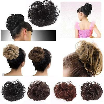 4 Colors Extra Thick Wavy Curly Messy Bun Hair Piece Scrunchie Hair Extensions