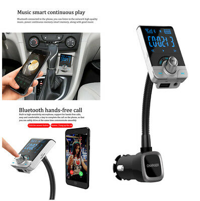 5V 2.1A Dual USB Car Charger Bluetooth FM Transmitter AUX 3.5MM Audio MP3 Player