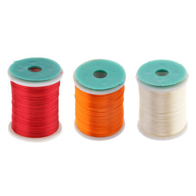 3pcs 250m Fly Fishing Thread Fly Tying Materials for Lure Bait Making DIY