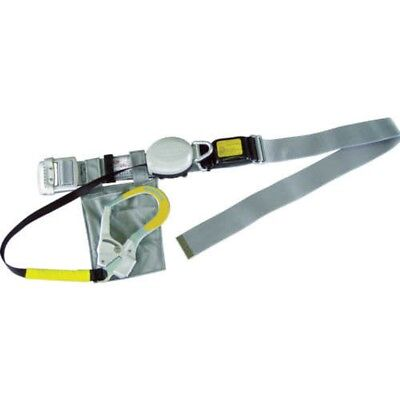 TOYO Safety NO-ARU-205-GY 2 Way Roll Up Safety Belt Gray Japan with Tracking