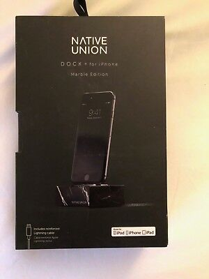 Native Union Dock  for iPhone (Black - MARBLE EDITION)