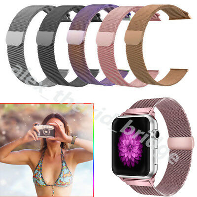 For Apple Watch Series 3 2 1 Milanese Strap Magnetic Strap Bracelet Band 38/42mm