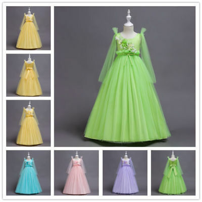 Sweet Tulle Girls Flower Dress Lovely Princess Birthday Party Christmas Gown