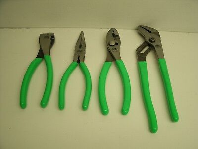 "New Mac Tools Green 8"" 4-Pc Pliers Set"