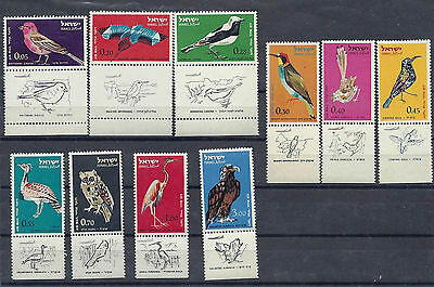 Israel Stamps 1963 Air Mail Birds 10 V Mnh With Tabs