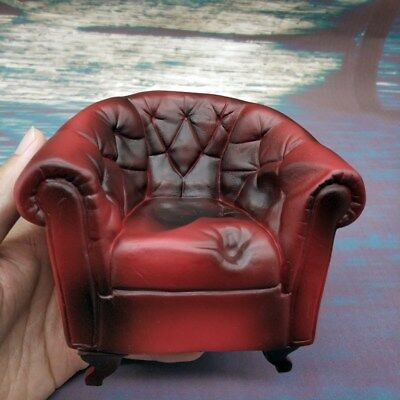 1/12 Scale Red Soft Arm Chair Seat Model 6'' Figure