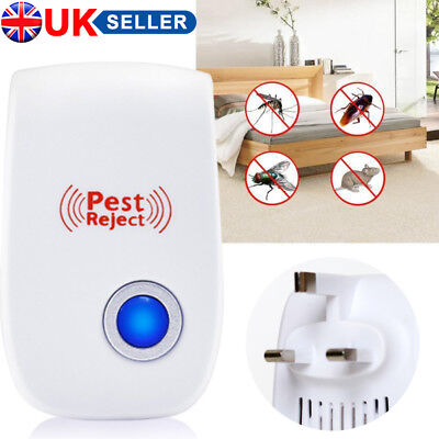 1/2/4/5/10 Pack Ultrasonic Pest Control Repeller Reject Rat Mouse Mice spider UK