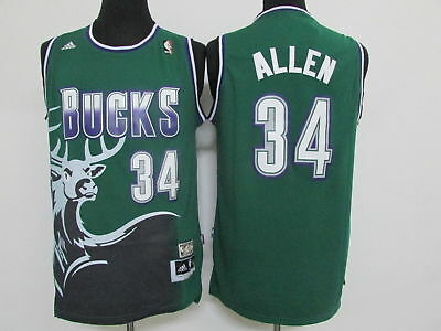 Ray Allen Milwaukee Bucks  34 Stitched Sewn Men Throwback Jersey Size S-2XL fa21c9f7b